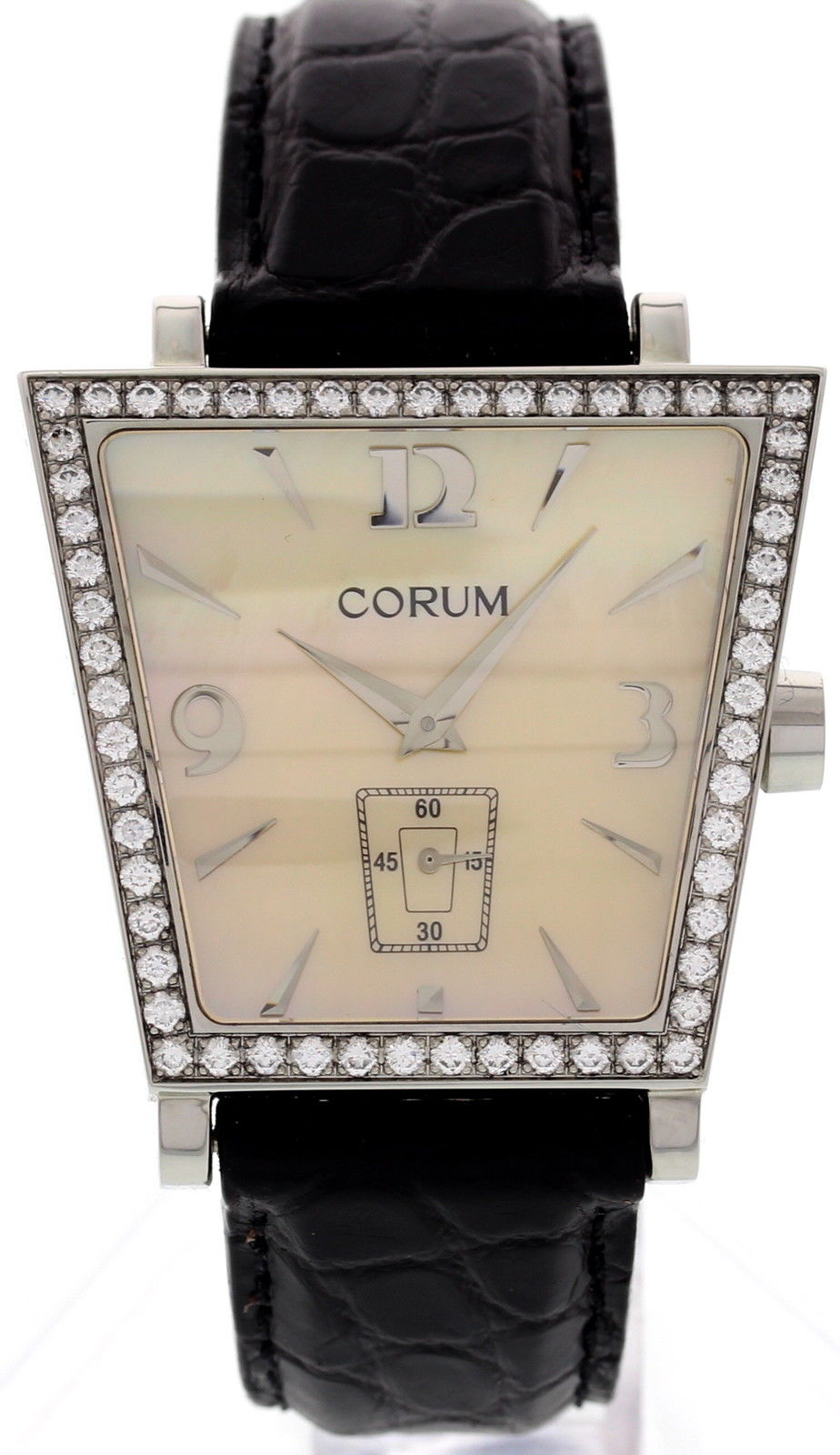 "Image of ""Corum 106.44.47 Trapeze Stainless Steel Diamonds Watch"""