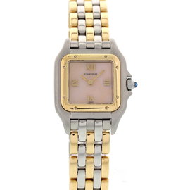 Cartier Panthere 18K Yellow Gold & Stainless Steel 1120 Rare Dial Ladies Watch