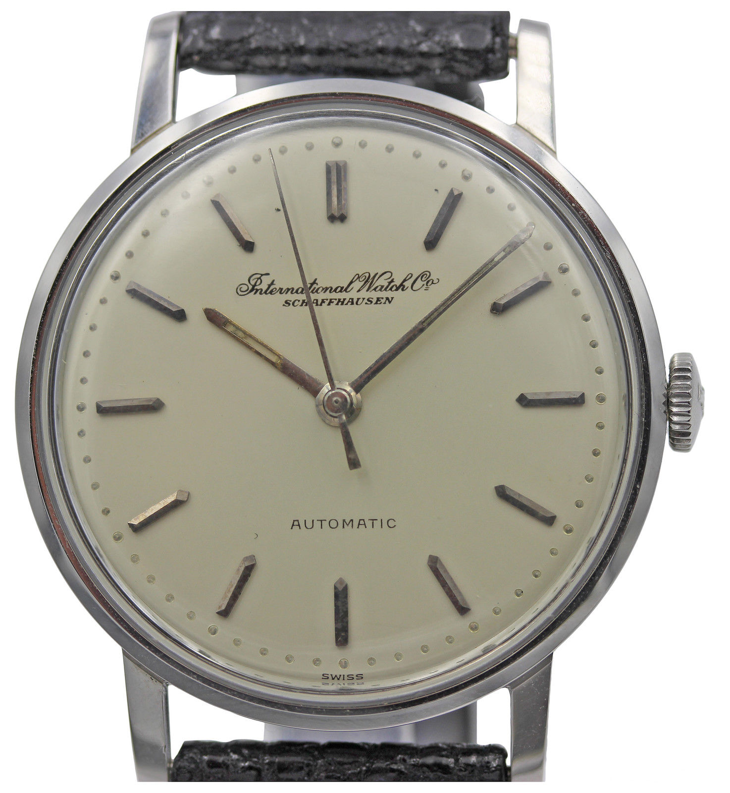 """Image of """"IWC Schaffhausen Automatic Stainless Steel Men's Vintage Watch"""""""