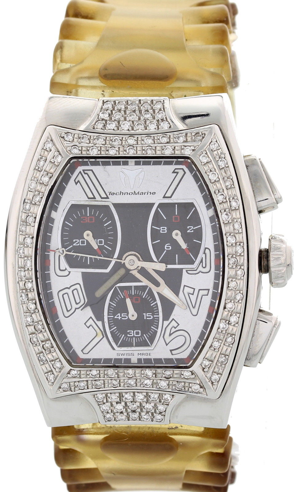 "Image of ""Technomarine Chronograph Stainless Steel with Diamonds Tscm 03324"""