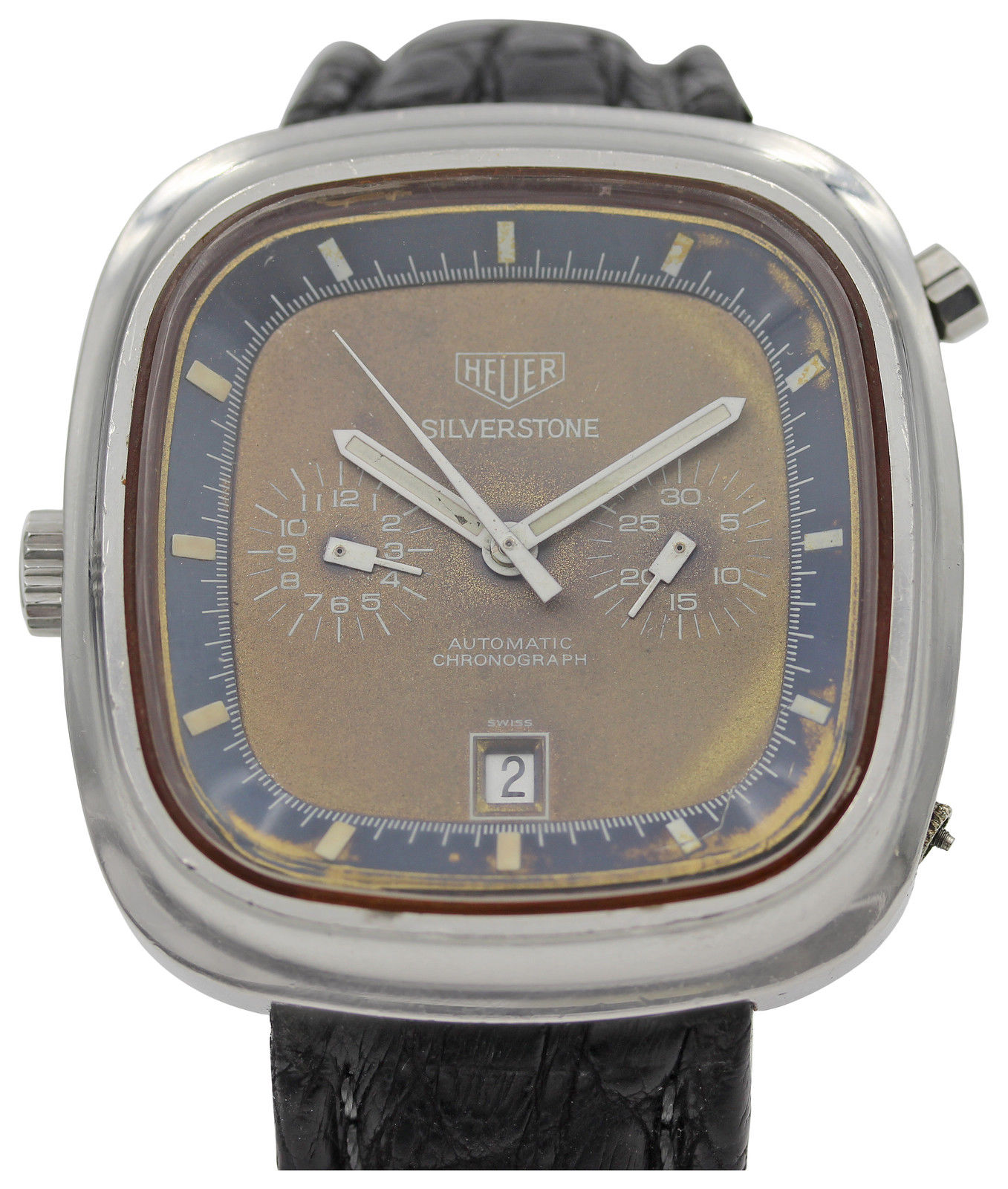"Image of ""Heuer Vintage Silverstone Automatic Chronograph Watch"""