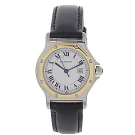 Cartier Santos Octagon 18K Yellow Gold & Stainless Steel Automatic Womens Watch