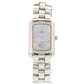 Baume & Mercier 18K White Gold & Diamonds Mother of Pearl Dial Ladies Watch