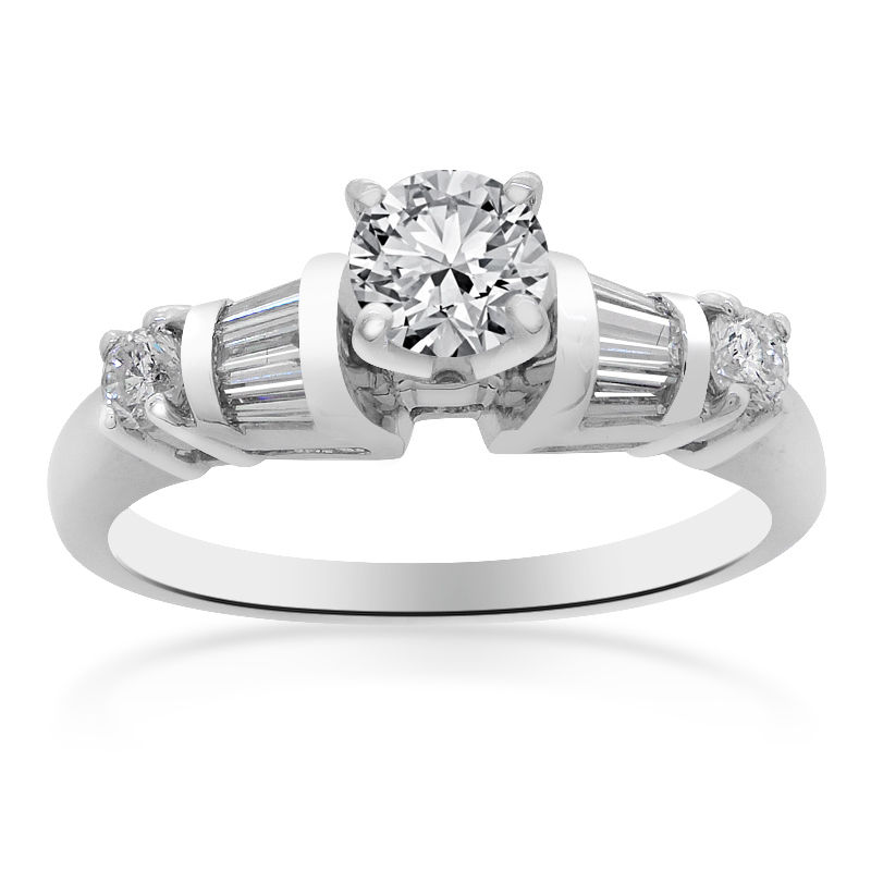 "Image of ""Platinum Natural Round Cut Diamond Ring"""