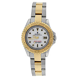 Rolex Yachtmaster 169623 Stainless Steel & 18K Gold White Dial Womens Watch
