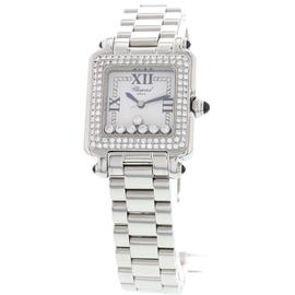 Chopard 27/8349 Happy Sport Diamond Stainless Steel Watch