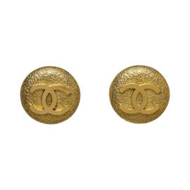 Chanel Gold Tone Hardware CC Clip On Earrings