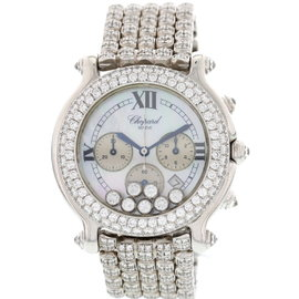 Chopard Happy Sport Stainless Steel and Diamond Womens Watch