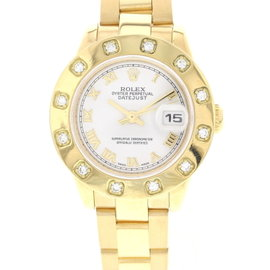 Rolex Datejust 179168 18K Yellow Gold President Diamonds Watch