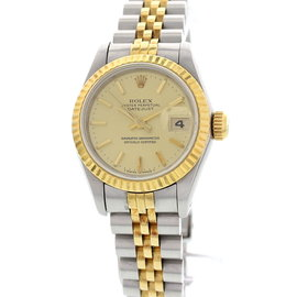 Rolex Oyster Perpetual DateJust 69173 Two Tone Stainless Steel Womens Watch