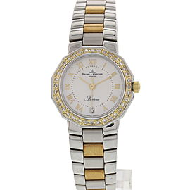 Baume & Mercier MV040079 Riviera Mother Of Pearl Dial 18K Yellow Gold Stainless Steel Womens Watch