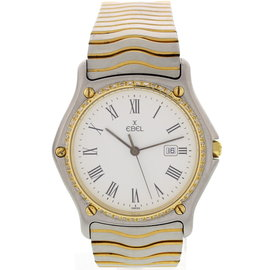 Ebel Sportwave 183903 Two Tone w/ Diamonds Unisex Watch