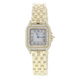 Cartier Panthere18K Yellow Gold with Diamonds Womens Watch