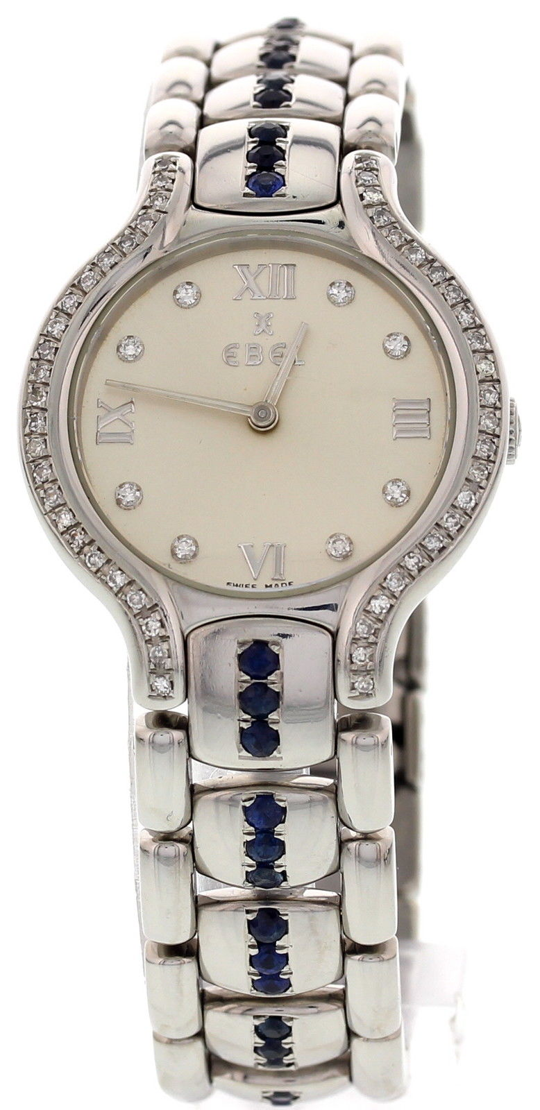 """Image of """"Ebel Beluga E9157421 Stainless Steel with Diamonds & Sapphires Womens"""""""