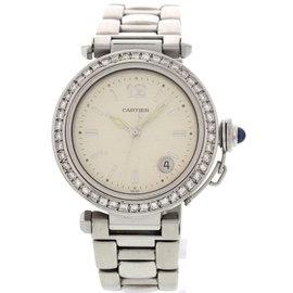 Cartier Pasha de 1040 Stainless Steel Diamonds Womens Watch