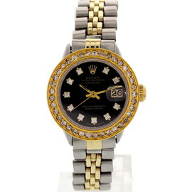Rolex Oyster 6516 Perpetual Datejust 18K Yellow Gold & SS Womens Watch