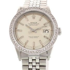 Rolex Datejust 1601 Oyster Perpetual W/ Diamonds Mens Watch