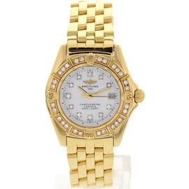 Breitling K72345 18K Yellow Gold And Diamonds Callistino Womens Watch