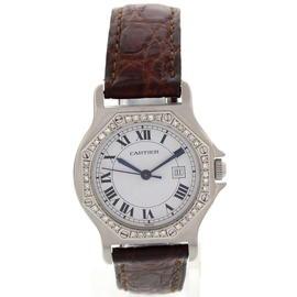 Cartier Santos Octagon Automatic With Diamonds Mens Watch