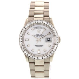 Rolex Day-Date 118239 18k White Gold & Diamonds Mens Watch
