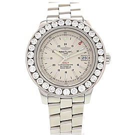 Breitling A17380 Colt Stainless Steel Diamonds Mens Watch