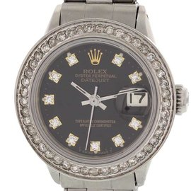 Rolex Oyster Perpetual Datejust Stainless Steel and Diamond Womens Watch