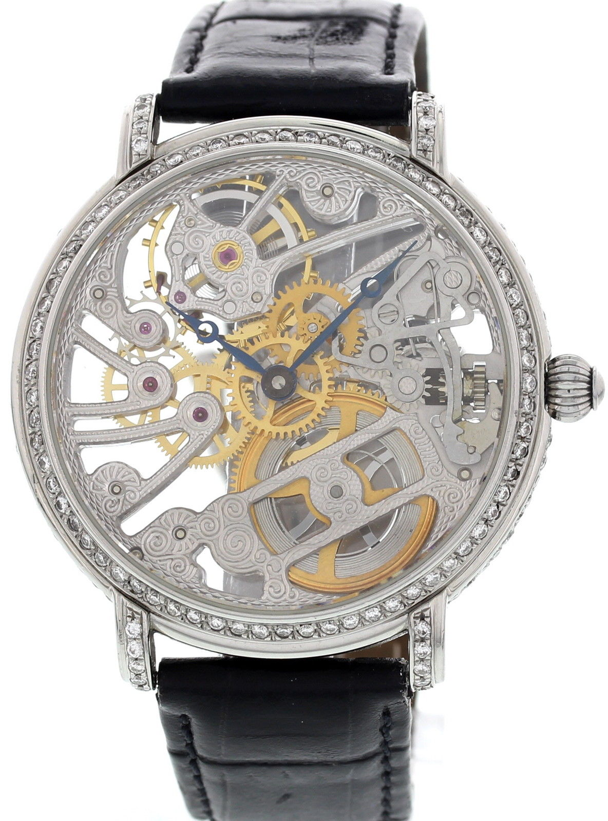 "Image of ""Maurice Lacroix 16807 Diamonds Masterpiece Skeleton Mens Watch"""