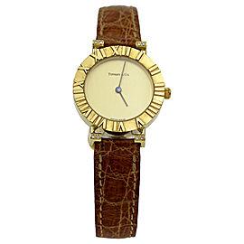 Tiffany & Co. Atlas 286.753 18K Yellow Gold Quartz Womens Watch