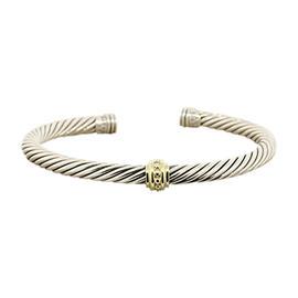 David Yurman Classic Sterling Silver 14K Gold Cuff Bracelet
