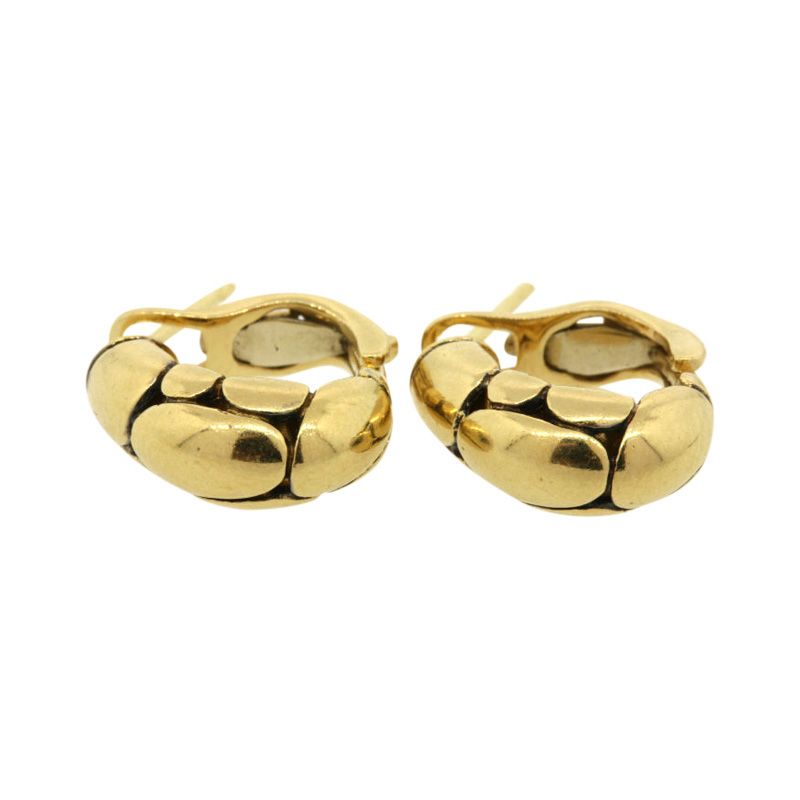 "Image of ""John Hardy 18K Yellow Gold Kali Pebble Small Hoops Earrings"""