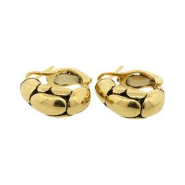 John Hardy 18K Yellow Gold Kali Pebble Small Hoops Earrings