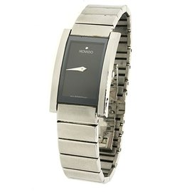 Movado 0605394 La Nouvelle Stainless Steel Museum Dial Square Womens Watch