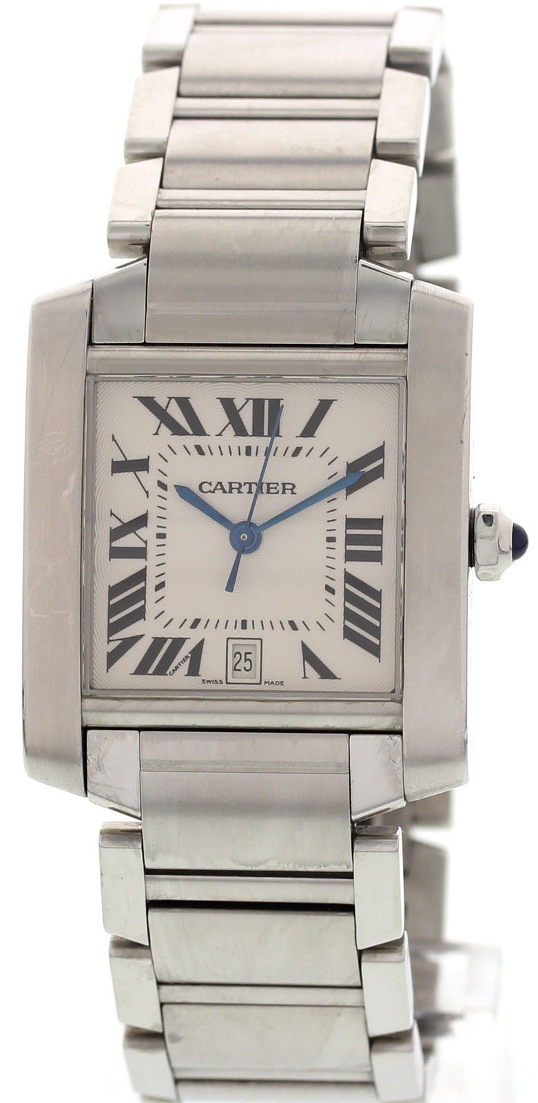"""Image of """"Cartier 2302 Tank Francaise Stainless Steel Watch"""""""