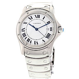 Cartier 15611 Santos Ronde Date Stainless Steel Watch