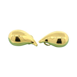 Tiffany & Co. 18K Yellow Gold Elsa Peretti Tear Drop Stud Earrings