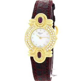 Chopard 12/5959-21 18K Yellow Gold Diamond Womens Watch
