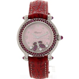 Chopard 27/8935-42 Happy Sport Ruby Butterfly Diamond Womens Watch