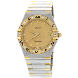 Omega Constellation 141365 18K Yellow Gold & Stainless Steel with Diamonds Men's Watch