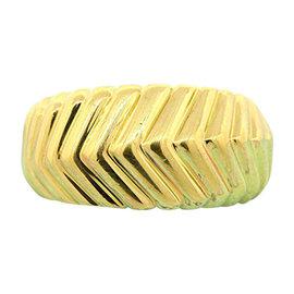 Tiffany & Co. 18K Yellow Gold Band Ribbed V Cable Ring