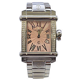 Charriol Stainless Steel Pink Diamond 28mm Womens Watch