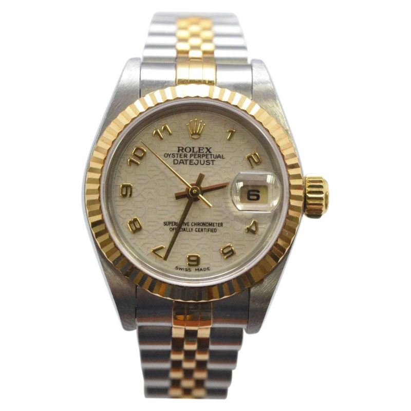 """Image of """"Rolex Datejust Stainless Steel and 18K Yellow Gold 25mm Womens Watch"""""""