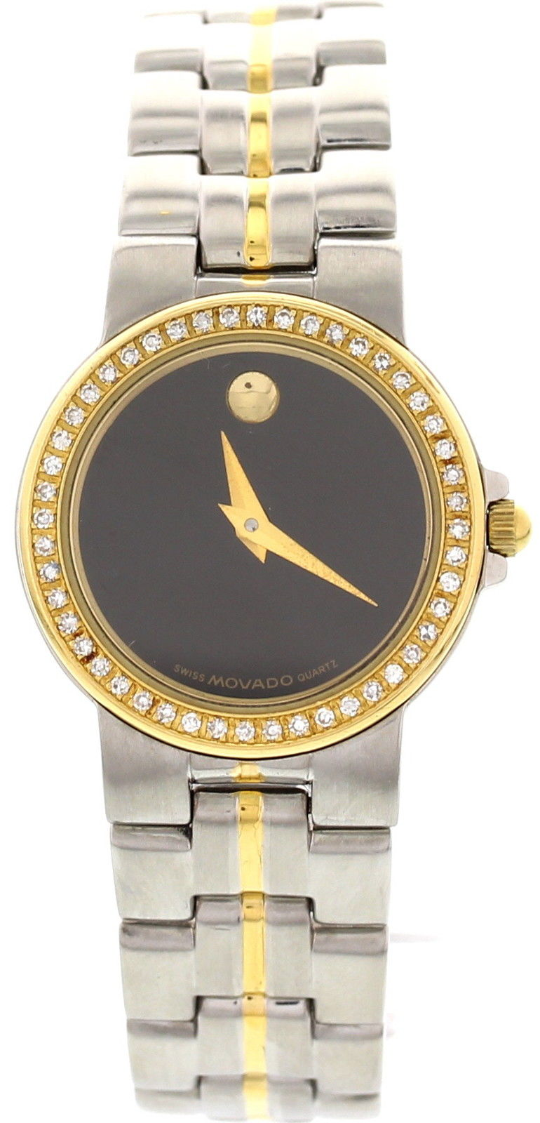 """Image of """"Movado Museum Bubble 18K Yellow Gold Plated & Stainless Steel &"""""""