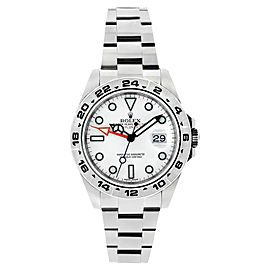 Rolex Explorer 2 216570 Oyster Steel White Dial Mens 42mm Watch