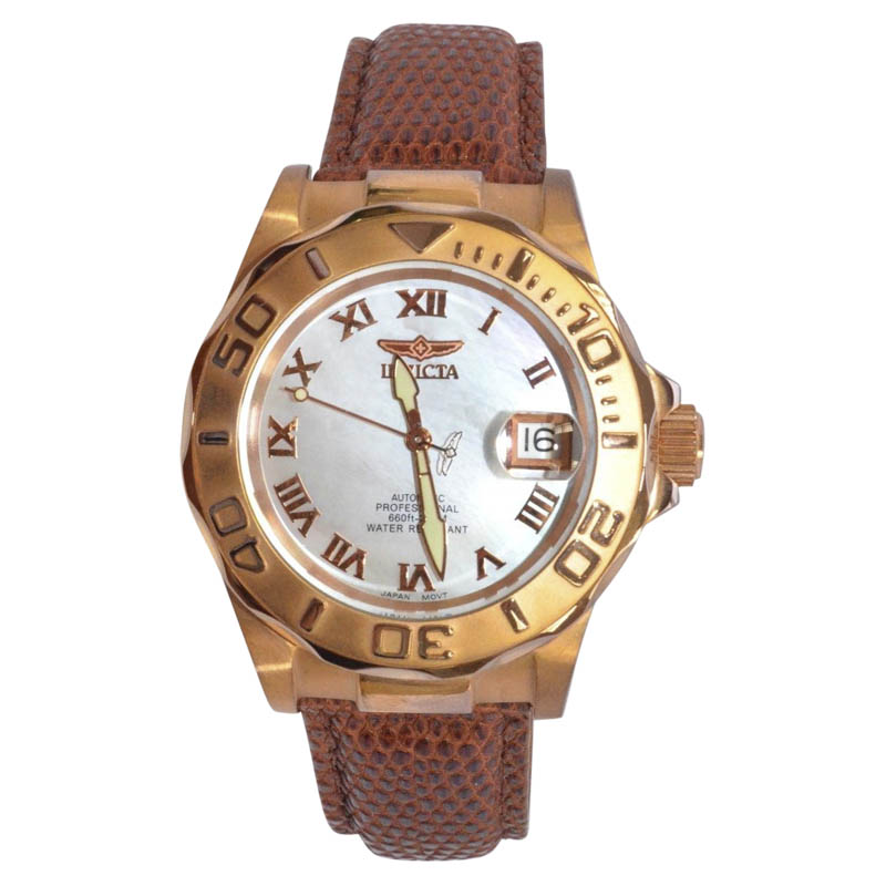 "Image of ""Invicta Professional Stainless Steel Mother of Pearl Automatic 40mm"""