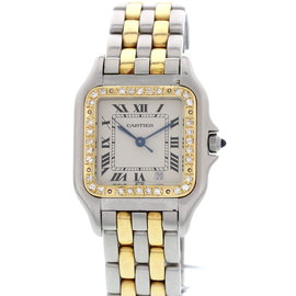 Cartier Panthere 187949 18K Yellow Gold Stainless Steel & Diamond Womens Watch