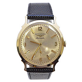 Longines 14K Gold Automatic With Sub Seconds Vintage 32mm Mens Wristwatch