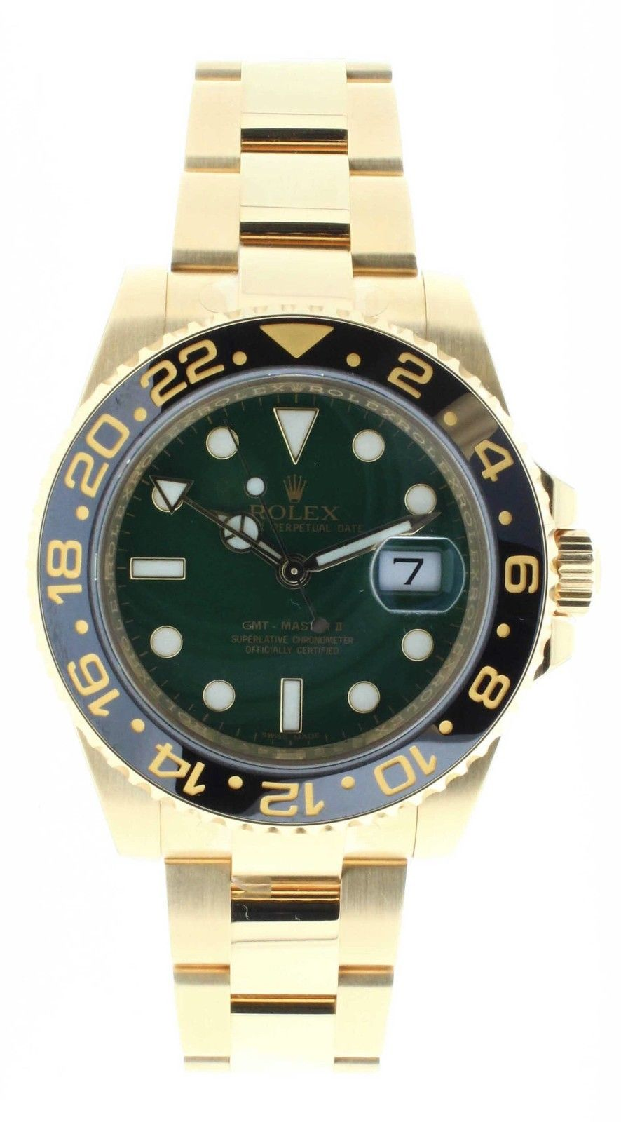 "Image of ""Rolex GMT Master II 116718 18K Yellow Gold & Stainless Steel 40Mm"""