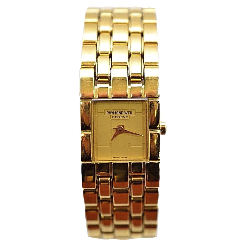 """Image of """"Raymond Weil 5886 Gold-Tone Dial Stainless Steel 17mm Womens Watch"""""""