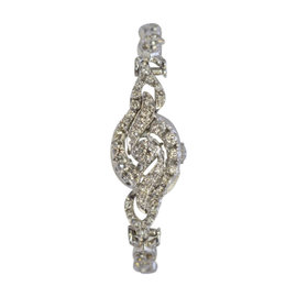 Hamilton 14K White Gold Diamond 14.25mm Womens Watch