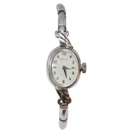 Hamilton 14K White Gold 14mm Womens Vintage Watch